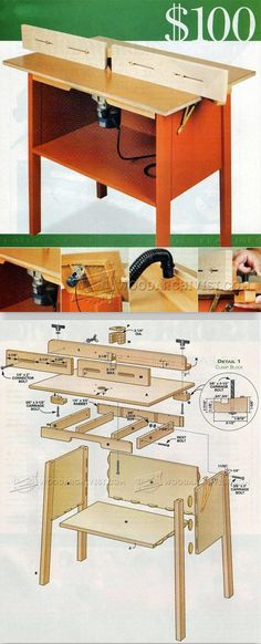 Simple Router Table Plans - Router Tips, Jigs and Fixtures | WoodArchivist.com