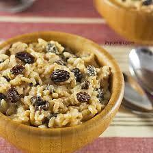 Risultati immagini per recipes rice pudding