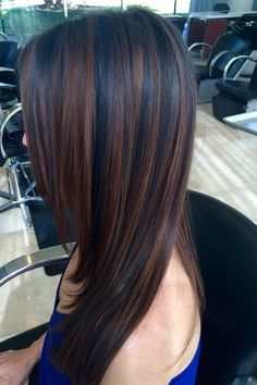 Long Dark Brown Shag with Textured Bangs - 20 Stunning Long Dark Brown Hair Cuts and Styles - The Trending Hairstyle Fall Hair Color For Brunettes, Hair Color For Black Hair, Brown Hair Colors, Black Cherry Hair, Hair Colour, Purple Hair, Hair Color Highlights, Hair Color Balayage, Ombre Hair