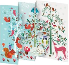 Roger la Borde | Festive Critters Notecard Pack (5 tri-fold cards)