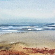 Foreshore II - Watercolour and ink by Liz James