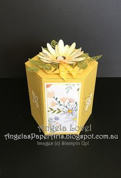 Stampin' Up! Delightful Daisy Window Box by Angela Lovel, Angela's PaperArts