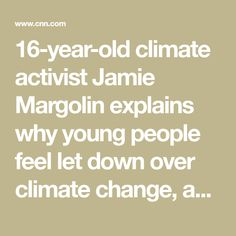 16-year-old climate activist Jamie Margolin explains why young people feel let down over climate change, and how they're holding politicians to account.