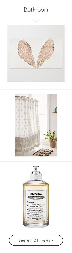 """""""Bathroom"""" by marinavl ❤ liked on Polyvore featuring home, rugs, woven rug, weave rug, patterned rugs, machine washable rugs, chevron pattern area rugs, bed & bath, bath and shower curtains"""