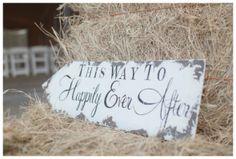 Vintage Inspired Wedding Sign