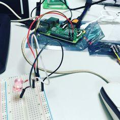 #IoT #멀티캠퍼스 #수업중 #전자과 가 아니라서 이해가 안가지만 재밌다 #VCC #GROUND 다 뭔소리여 ㅋㅋㅋ #컴공과 라서 미안해요 #Raspberry #pi #라즈베리파이 by sukho.cho