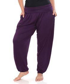 Purple Harem Pants - Plus