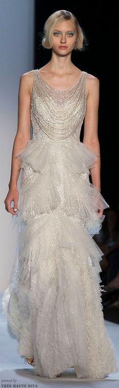 Badgley Mischka gown for Kuu – Finnish goddess of the moon