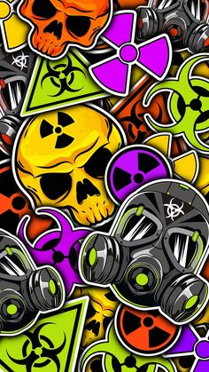Handy Wallpaper, Crazy Wallpaper, Pop Art Wallpaper, Hipster Wallpaper, Graphic Wallpaper, Galaxy Wallpaper, Mobile Wallpaper, Wallpaper Keren, Sticker Bomb Wallpaper