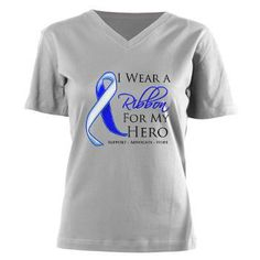 I Wear a Ribbon For My Hero shirts, apparel and gifts #ALS #ALSdisease #ALSAwareness