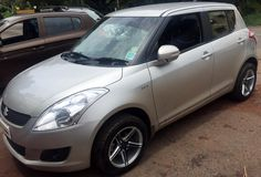 """PLATI PREMIUM WHEELS FITTED BY OUR ESTEEMED DEALER #UNIQUE CARS IN #GOA PP-003 15"""" 100*4 SILVER/SPARKLING BLACK FACE http://platiindia.com/pp-003-02"""