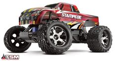 This is the 1/10 scale 2.4GHz radio controlled, Ready To Run Traxxas Stampede VXL Brushless Motor Powered Off-Road Monster Truck #radiocontrolledcars Gas Powered Rc Cars, Rc Off Road, Remote Control Boat, Rc Radio, Truck Scales, Rc Cars And Trucks, Electric Motor, Tractor, Monster Trucks