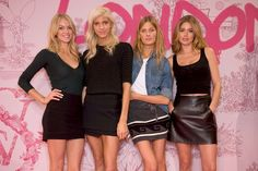 Angelic style: Lindsay Ellingson, Devon Windsor, Constance Jablonski & Doutzen Kroes master the off-duty look at Fashion Show rehearsals.