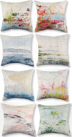 Jessica Zoob Fabrics + Wallcoverings For Romo Black Edition. Love these fabrics/pillows.