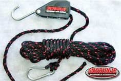 """Snobunje Inc Sidewinder Ratchet 1016 by Snobunje. $27.23. Compact and durable; locks rope securelyLocking rope ratchet is very useful in applying and holding the forces that the Snobunje Cobra can produceIncludes 30ft rope; locking ratchet can be used with any length 3/8"""" diameter rope"""