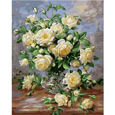 Diy oil canvas painting by numbers coloring by number hand painted canvas oil painting wall decor craft flowers picture G439 with Free Shipping  have discount 40.0% Off sales