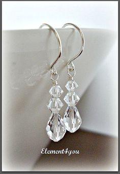 Bridesmaid Crystal Earrings Wedding earrings Bridal by Element4you, $16.00