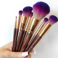 -Gets some cute makeup brushes