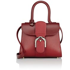 Delvaux Women's Brillant Mini-Satchel (62.698.015 IDR) ❤ liked on Polyvore featuring bags, handbags, red, travel satchel, mini satchel purse, red satchel purse, red satchel handbag and red handbags