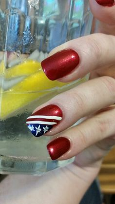 Red, white, and blue nails!!