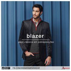 O Blazer é a peça chave para quem gosta de produções com sobreposições. Lembre-se de sempre escolher um modelo que tenha espaço entre o corpo e o tecido. #estiloaramis #aramismenswear #inverno2014