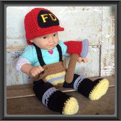 Newborn Firefighter Outfit by Alana Judah