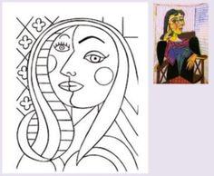 Entrada en el blog Nurvero-La vie en classe con obras de Picasso y propuestas para trabajar en clase.