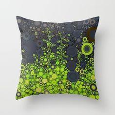 nature abstract, throw pillow, gray, green decor, decorating, interior design ideas, dorm room decor