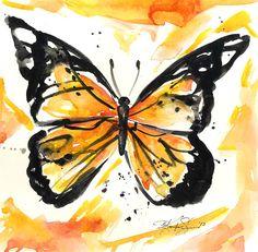 Monarch Butterfly ... No. 1 ... Original by KathyMortonStanion, $40.00