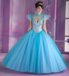 Quinceanera dresses by Vizcaya 89003 Tulle Quinceanera Ballgown with Beading Bolero Jacket. Corset Tie Back. Colors Available: Pucker Up Pink, Peri-Pop, Aqua, White. Wedding Dresses Plus Size, Colored Wedding Dresses, Bridal Wedding Dresses, Lace Wedding, Princess Ball Gowns, Disney Princess Dresses, Girls Party Dress, Girls Dresses, Ball Dresses
