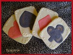 Playing Cards  - Poker Sugar Cookies