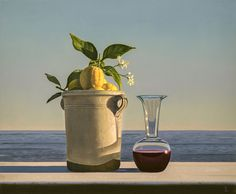 David Ligare   Still Life with Lemons and Wine