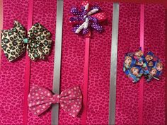Hot Pink Cheetah Hot Pink Leopard Hair Bow Holder Hair Bow Organizer by RaftsCrafts on Etsy https://www.etsy.com/listing/188726416/hot-pink-cheetah-hot-pink-leopard-hair