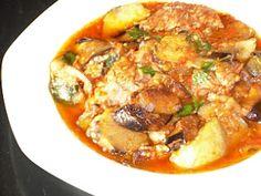 Perfect dish for fall. Greek Eggplant And Beef Stew. // realgreekrecipes.blogspot.com