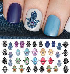 Hamsa Hand Ganesha Decals Salons Beauty Nail Art Beleza Tags Lounges