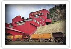 "The Argo Gold Mine & Stamp Mill, Idaho Springs, CO. 2"" x 3"" Fridge Magnet."