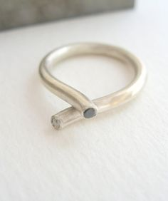 silver and diamond ring from NGJewelry - $70