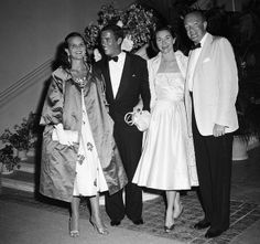 Lilly Pulitzer (left) and husband Herbert (Peter) Pulitzer Jr with Mrs Patrice Massie Tevander and Alexander Cameron, Palm Beach, 1954  (From Bert Morgan Archives)