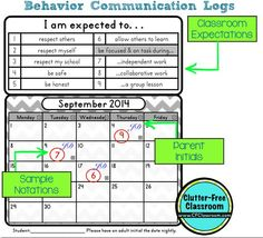 Tips for Managing Classroom Behavior, Communicating with Parents and Tracking Behavioral Data: