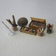 Image result for dollhouse miniature diy sewing room items