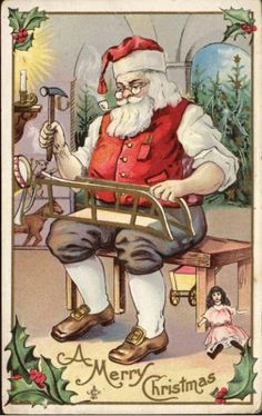 *SANTA CLAUS ~ Vintage Cards for Xmas and Holidays,  Vintage Santa Claus -  Santa Claus - Vintages Cards
