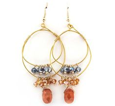 Celeste Chandelier Earrings in Sedona on Emma Stine Limited …think I can improve on this design.