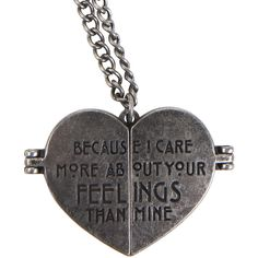 American Horror Story Tate Heart Locket Necklace Hot Topic ($23) ❤ liked on Polyvore featuring jewelry, pendants, heart jewelry, heart shaped locket, charm pendant, heart shaped pendant and american jewelry