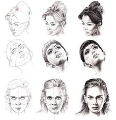 How to Draw a Face - 25 Step by Step Drawings and Video Tutorials   Read full article: http://webneel.com/how-draw-faces-drawings   more http://webneel.com/drawings   Follow us www.pinterest.com/webneel
