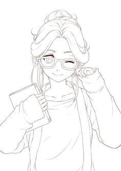Anime Character Drawing, Manga Drawing, Manga Art, Anime Drawings Sketches, Anime Sketch, Cute Drawings, Cartoon Drawings, Cute Coloring Pages, Coloring Books