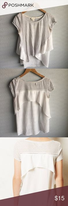 Anthropologie sideswing top meadow rue sideswing top in natural  I ♥️ reasonable offers 🛍 bundle discount- 2 items @ 20% off! ❌ no trades/🅿️🅿️ 🚭 smoke free home Anthropologie Tops Tees - Short Sleeve