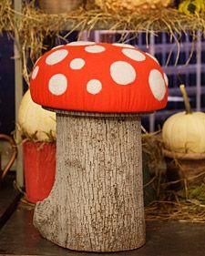 Toadstool Stool- Martha Stewart Crafts