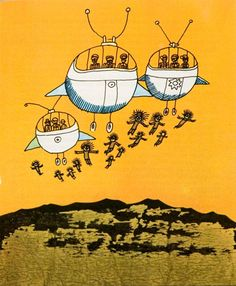 Polish Children's Illustration  Illus. by Józef Wilkoń for Tapatiki kontra Mandiable, 1976  From the collection of Hipopotam