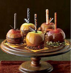Caramel apple centerpieces