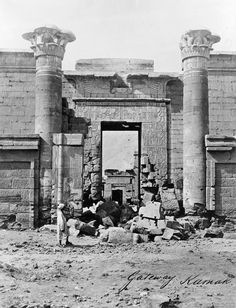 1850-1880 - Gateway. Karnak. Probably photographed by Francis Frith.